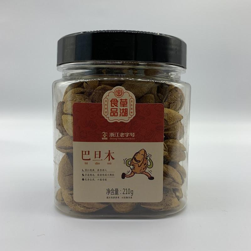 草湖食品 巴旦木 堅果炒貨 休閑零食 罐裝210g