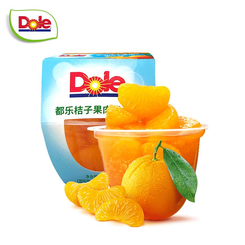 【Dole都樂】即食桔子果肉果汁果杯2組4杯 單杯113g