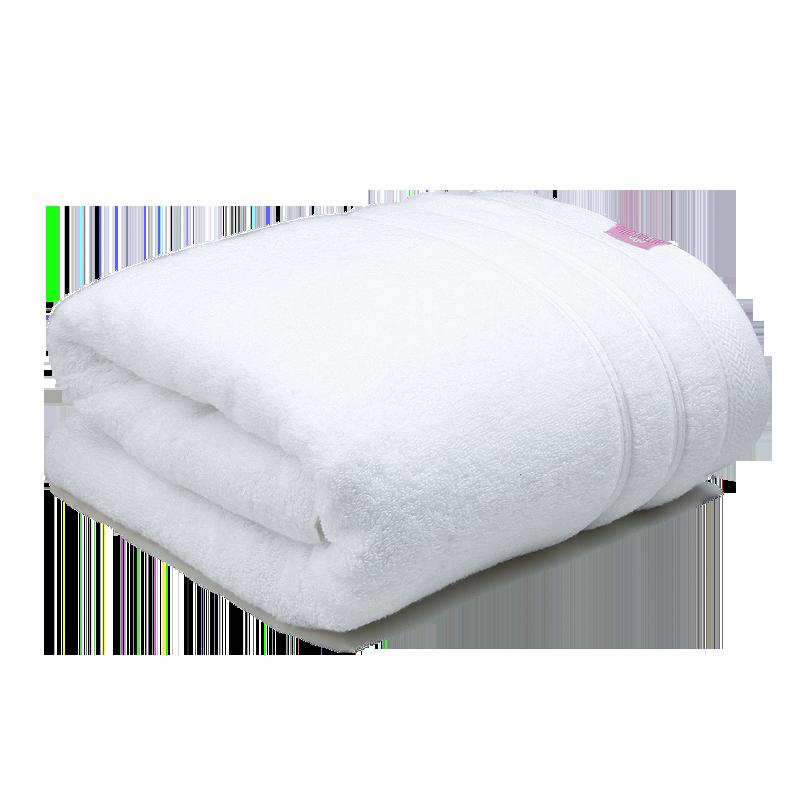艾米乐(amarelle)微棉浴巾 长绒棉成人加厚吸水素色简约大浴巾男女 纯棉柔软裹身洗澡巾 80*160cm 白色
