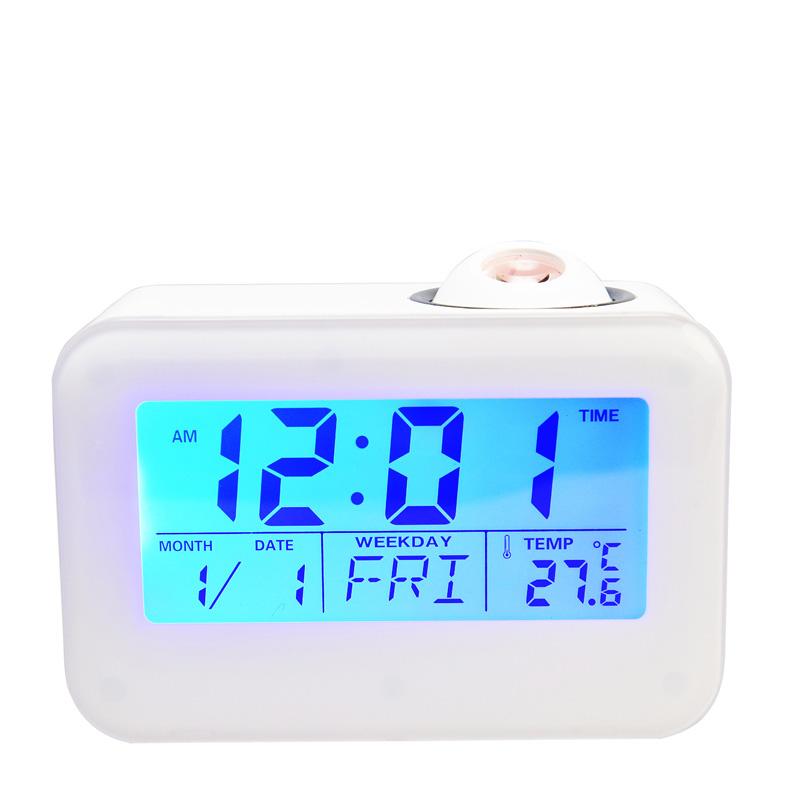 TIMESS钟表创意酷炫投影温度显示电子贪睡闹钟BR-806