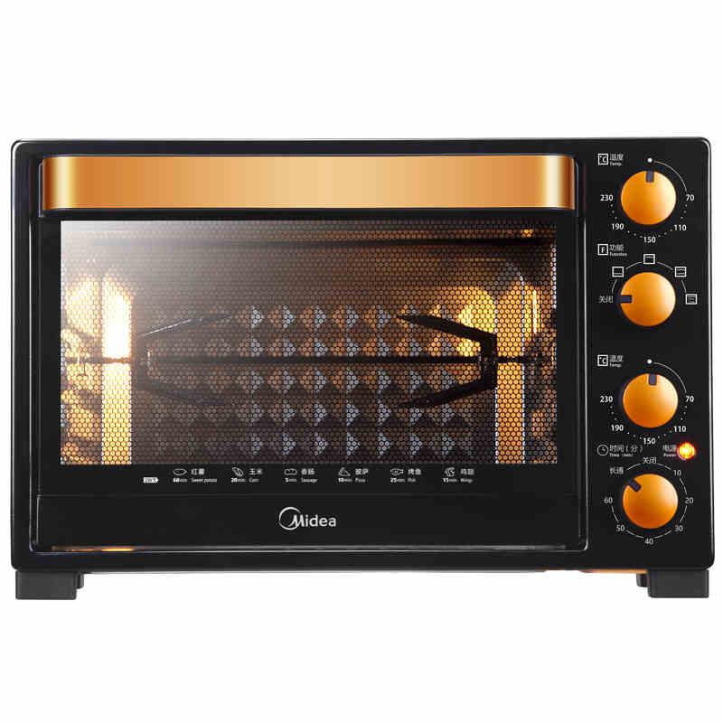 美的(Midea)升级款电烤箱T3-L326B黑色 32升 旋转烤架