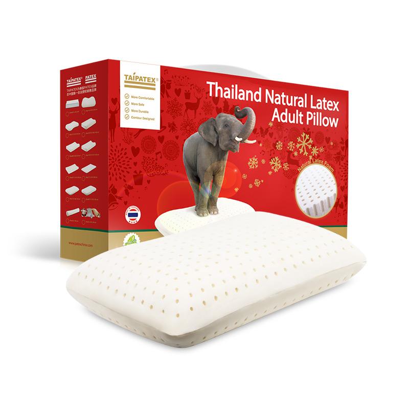 """泰国原装进口TAIPATEX天然乳胶""""透气方枕(大)66*42*15 cm"""
