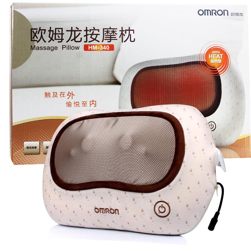欧姆龙按摩枕HM-340 成人老人家用颈部脖子电动加热型按摩枕 免息分期