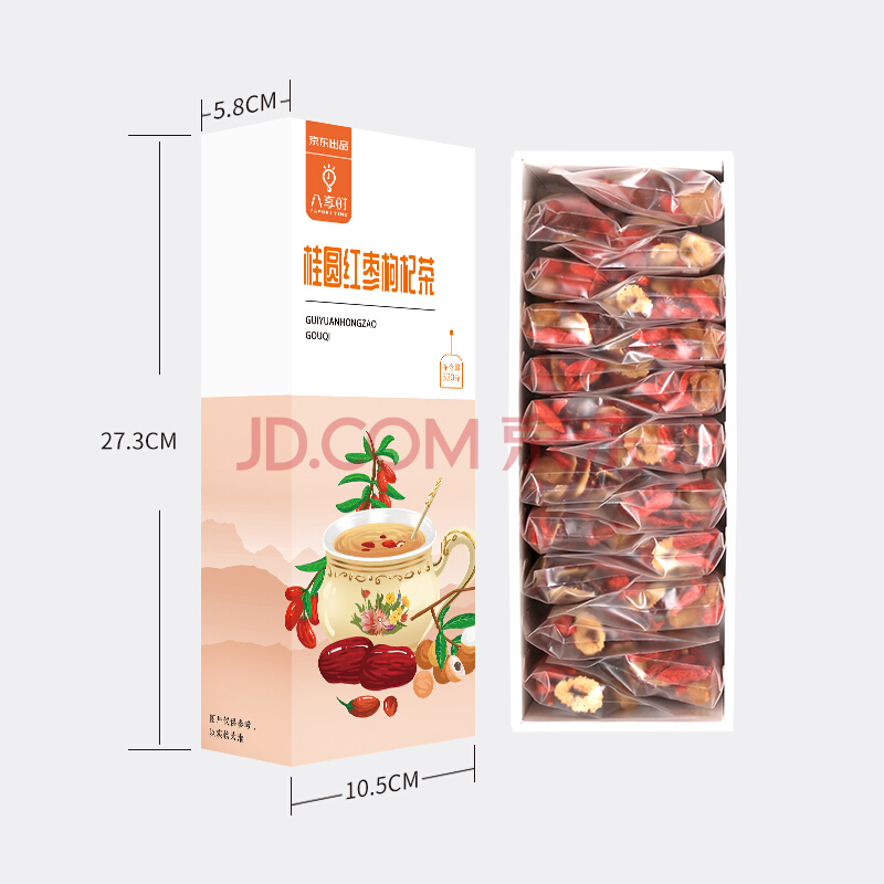 八享时桂圆红枣枸杞茶320g(20包)独立包装 水果茶 养生茶,八享时(Favor8time)