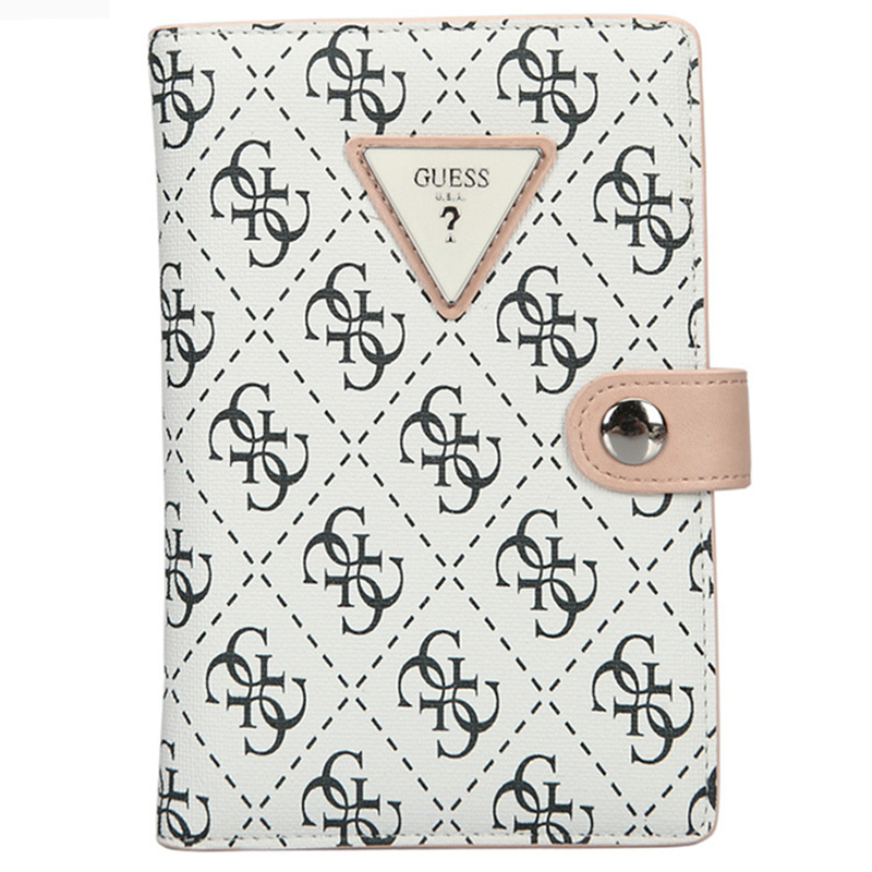 GUESS盖尔斯 女性时尚印花护照票夹
