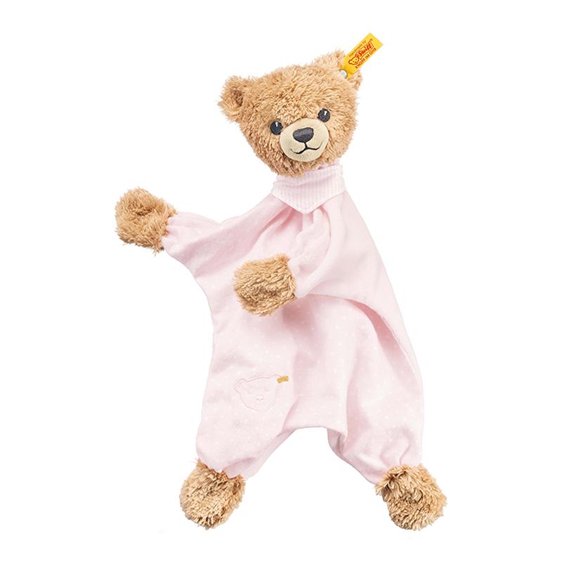 德国Steiff毛绒玩具Sleepwell哄睡安抚粉色30cm 4001505239533