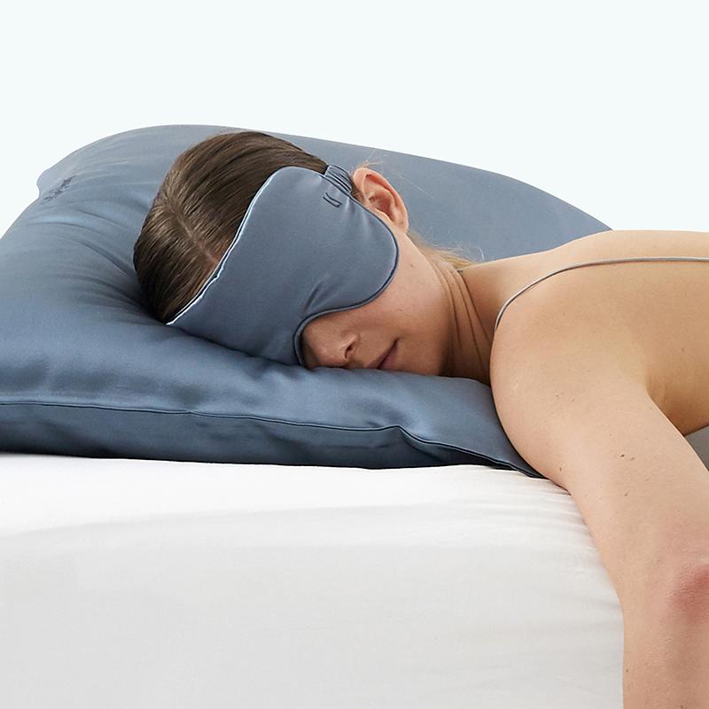 LaSuntin全遮式真丝眼罩 女士遮光透气睡眠缓解疲劳蚕丝眼罩
