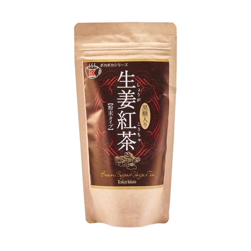 日本进口冲绳琉球公主黑糖生姜红茶180g/袋冲剂 日本姜黄生姜茶