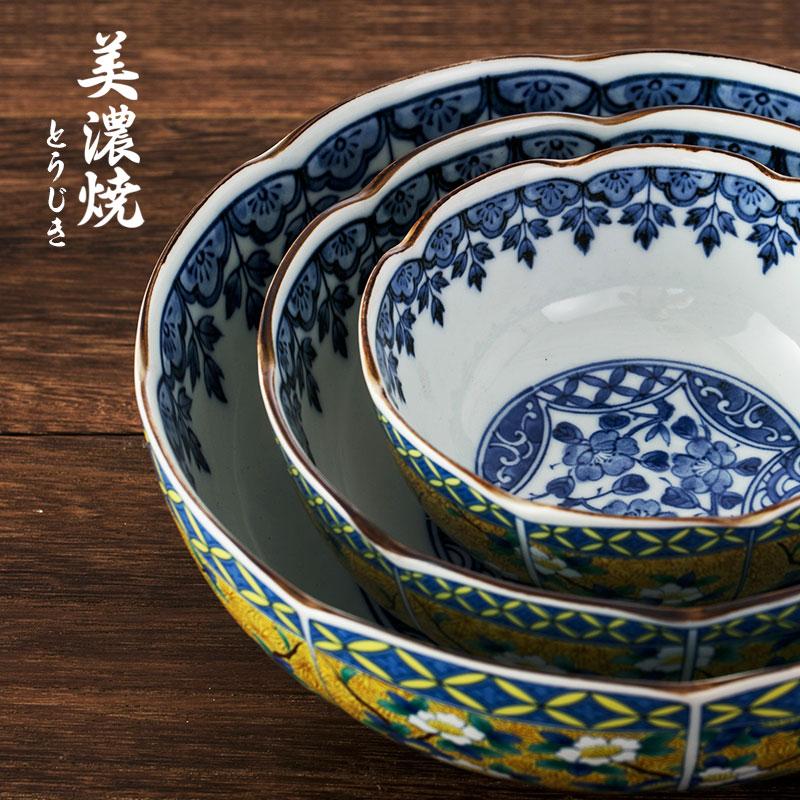 MinoYaki 美浓烧 日本进口古伊万里黄花鸟纹系列陶瓷餐具碗