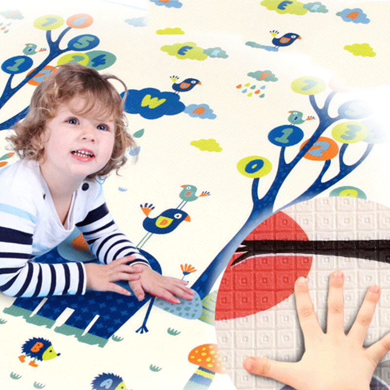 gb好孩子 儿童爬爬垫 加厚双面图案婴儿游戏垫 FP200-H-M400 200*160*1cm