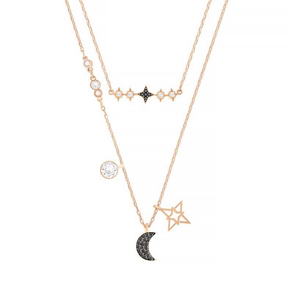 施华洛世奇 SWAROVSKI SYMBOL 神秘月亮造型 项链 浪漫星辰 礼物 叠搭设计 5273290