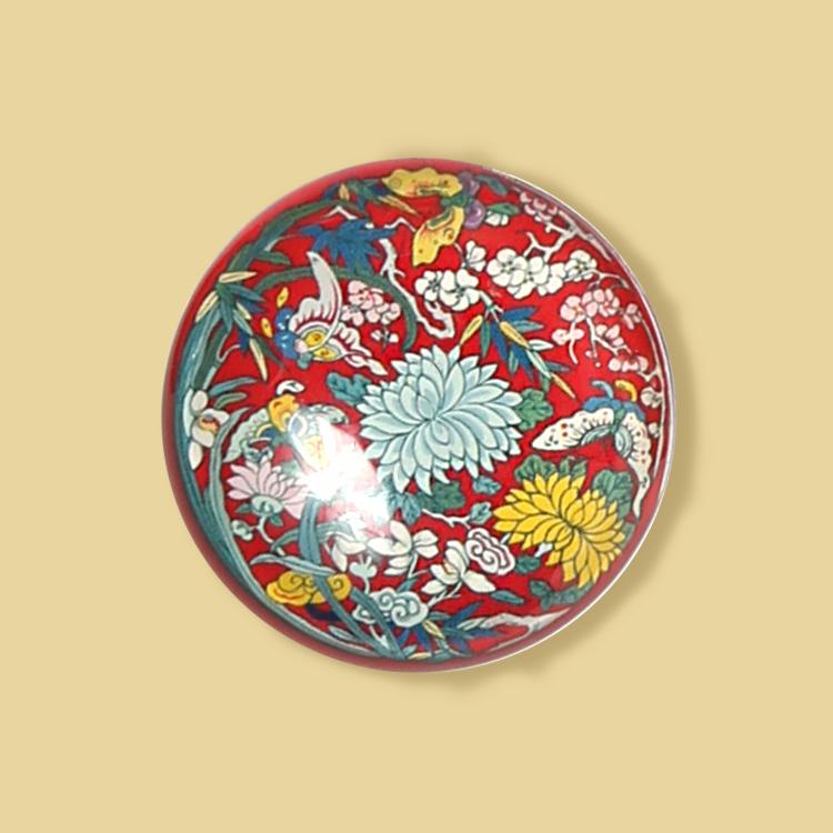宮廷紋飾冰箱貼-團紋梅蘭竹菊紋飾