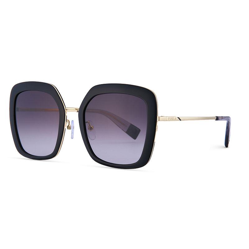 FURLA芙拉女士金属全框时尚墨镜太阳镜超大渐变前框SFU364J