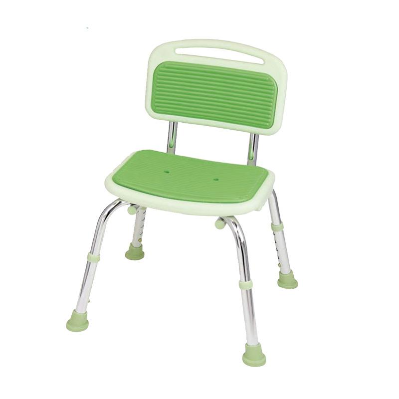 TacaoF 特高步 防滑沐浴椅洗澡椅浴凳老人孕妇防摔BSOC01 绿色