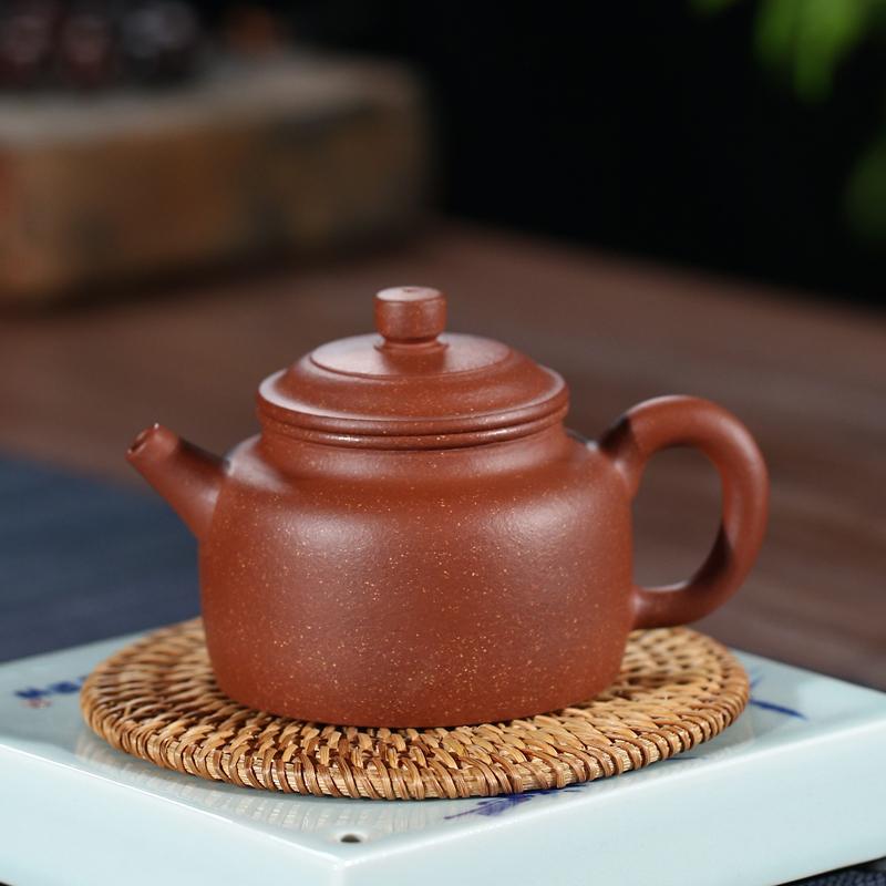 天金窑 宜兴紫砂壶金降坡泥范风云手工制作茶壶功夫茶具家用泡茶壶 德钟壶 220ml