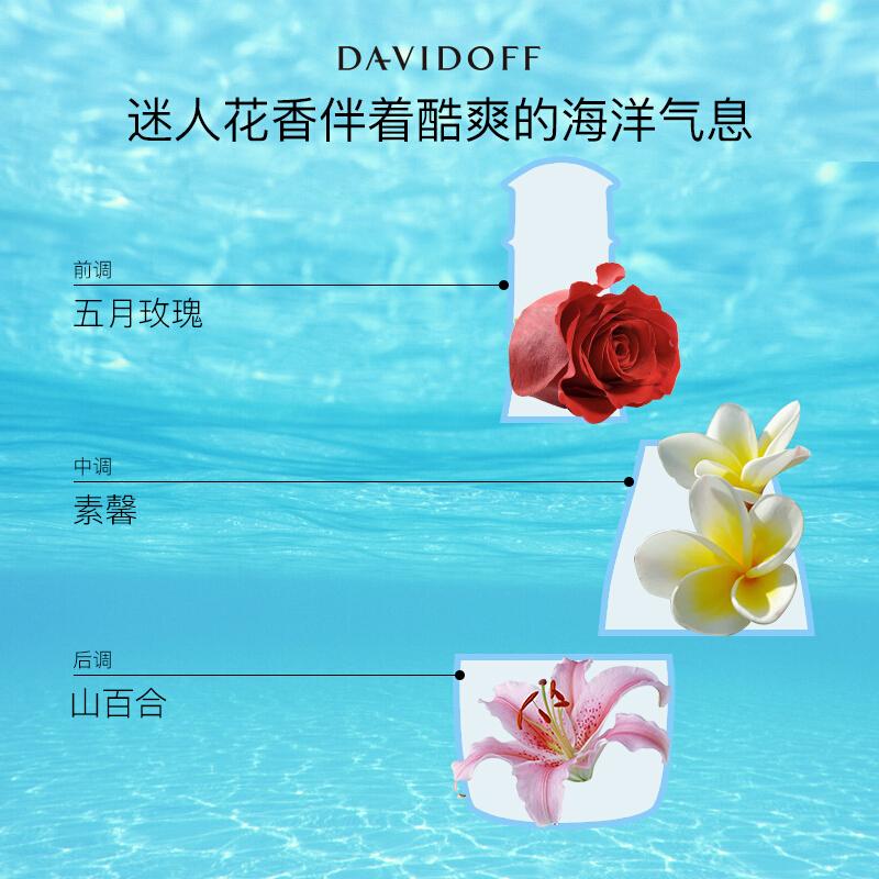 大卫杜夫(Davidoff)冷水女士香氛 30ml(原名:大卫杜夫女士淡香水30ml)