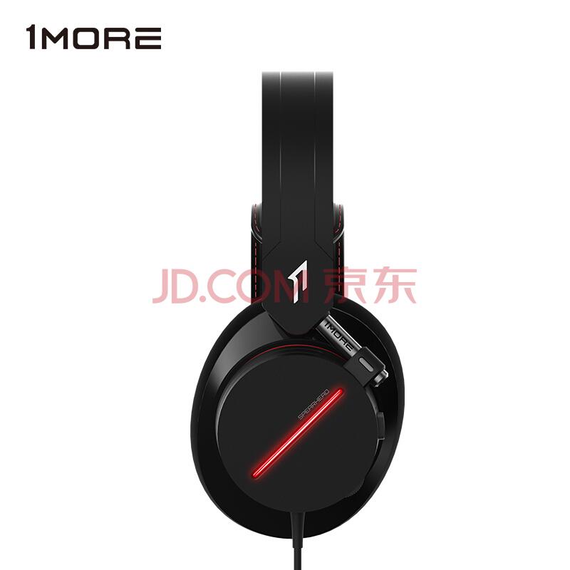 万魔(1MORE)游戏耳机 耳机头戴式 电竞耳机 Spearhead 电竞头戴式耳机 H1007 黑色,万魔(1MORE)