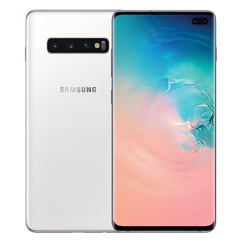 三星Galaxy S10+ (SM-G9750) 骁龙855超感屏 超声波屏下指纹 4G手机全网通 双卡双待游戏手机12GB+1TB陶瓷白