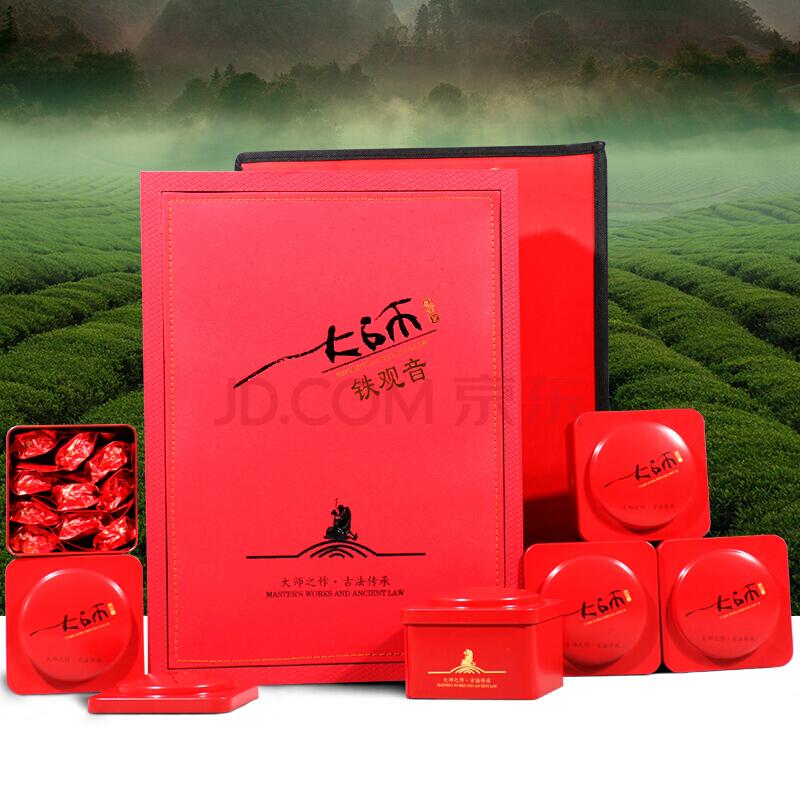宏馨 茶叶 乌龙茶 一级安溪铁观音礼盒 500g,宏馨
