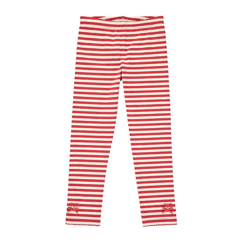 Steiff女嬰針織褲 德國進口 女嬰粉色條紋小蝴蝶結褲子