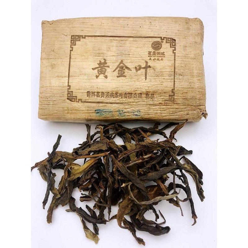 茗贵天成 云南普洱茶生茶 2018年云南易武黄金叶砖茶生茶 250g