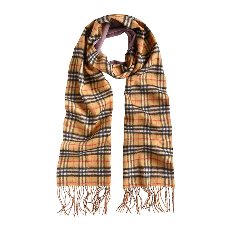 BURBERRY/巴宝莉围巾 经典格纹双面用羊绒长款围巾 丁香灰色 4058370
