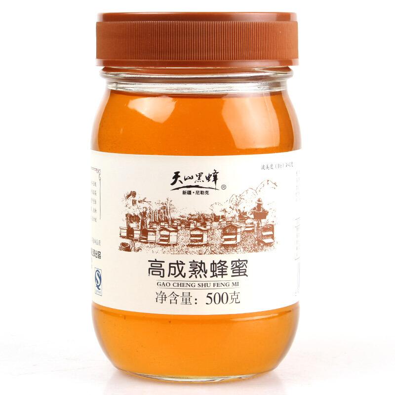 天山黑蜂高成熟蜂蜜500克