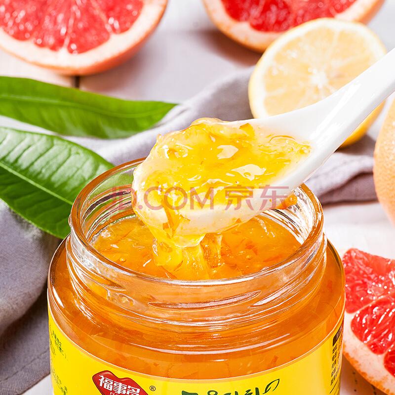 福事多蜂蜜柚子茶600g 韩国风味冲饮果汁水果茶饮料,福事多