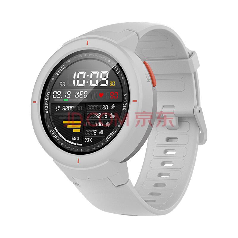 Amazfit 智能手表智能运动手表 华米科技出品电话手表  智能家居控制 GPS心率 NFC 白,AMAZFIT