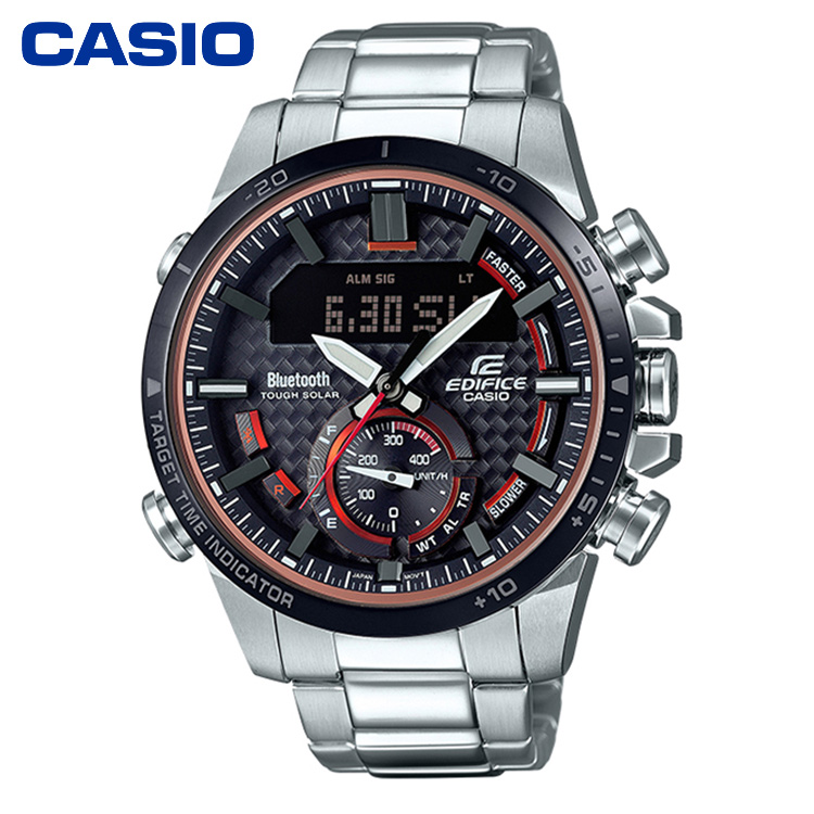 CASIO卡西欧ECB-800系列太阳能动力蓝牙时尚商务男表