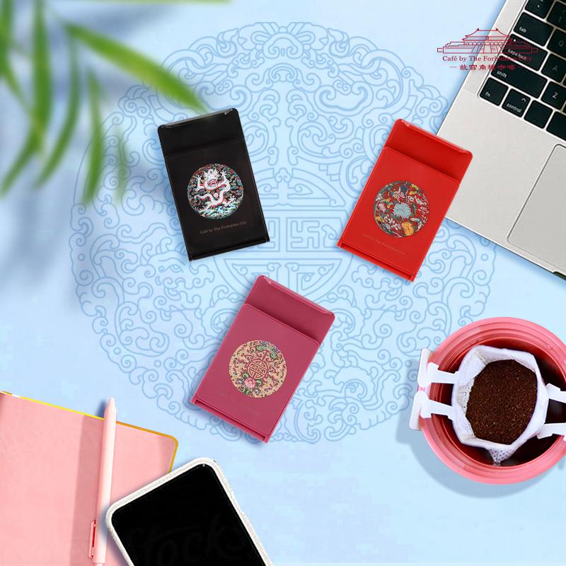 故宫角楼咖啡团纹手机支架—团纹梅兰竹菊