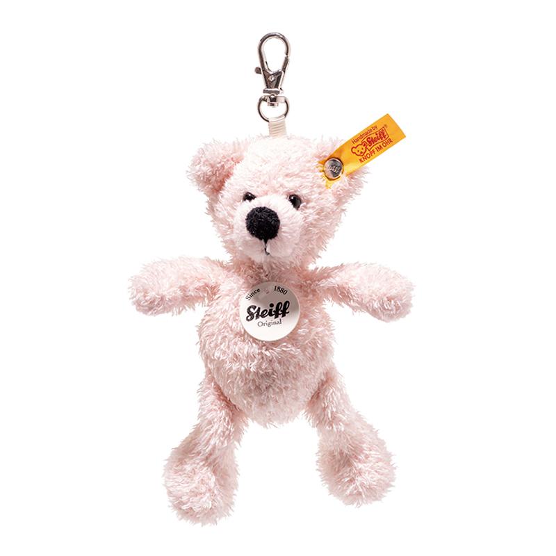 德国Steiff毛绒玩具挂件钥匙链小熊粉色 12cm 4001505112515
