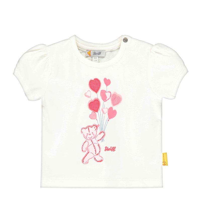 Steiff女婴针织短袖T恤 德国进口 女婴印花T恤 L002011128