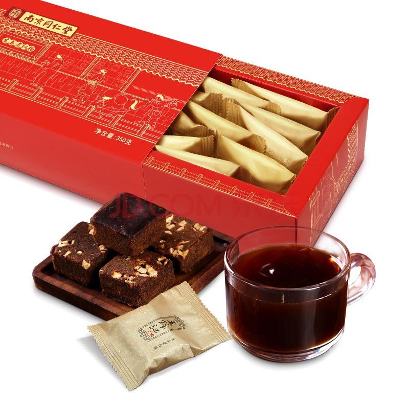 王锦记红糖姜茶礼盒独立包装 红糖姜块茶 姜母茶老姜汤 350g/盒,王锦记