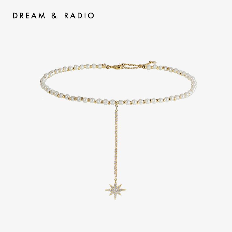 Dream&Radio 八星锋芒项链choker项圈女颈带脖圈潮网红潮简约气质百搭短锁骨链