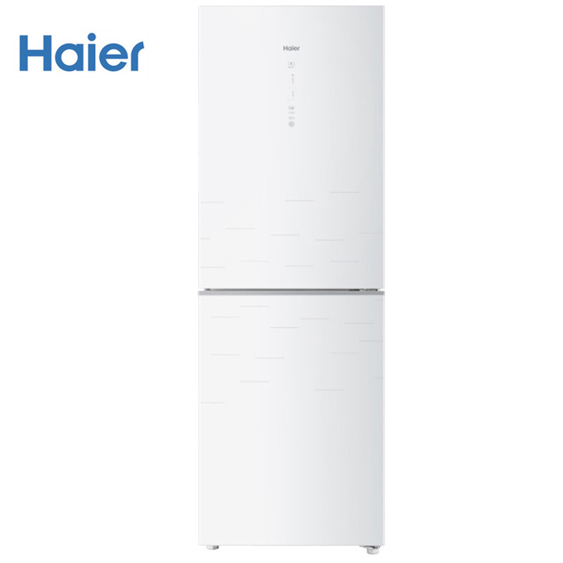海尔(Haier)272升冰箱两门家用智能无霜变频节能静音彩晶玻璃电脑控温白色时尚双门冰箱 BCD-272WDGD