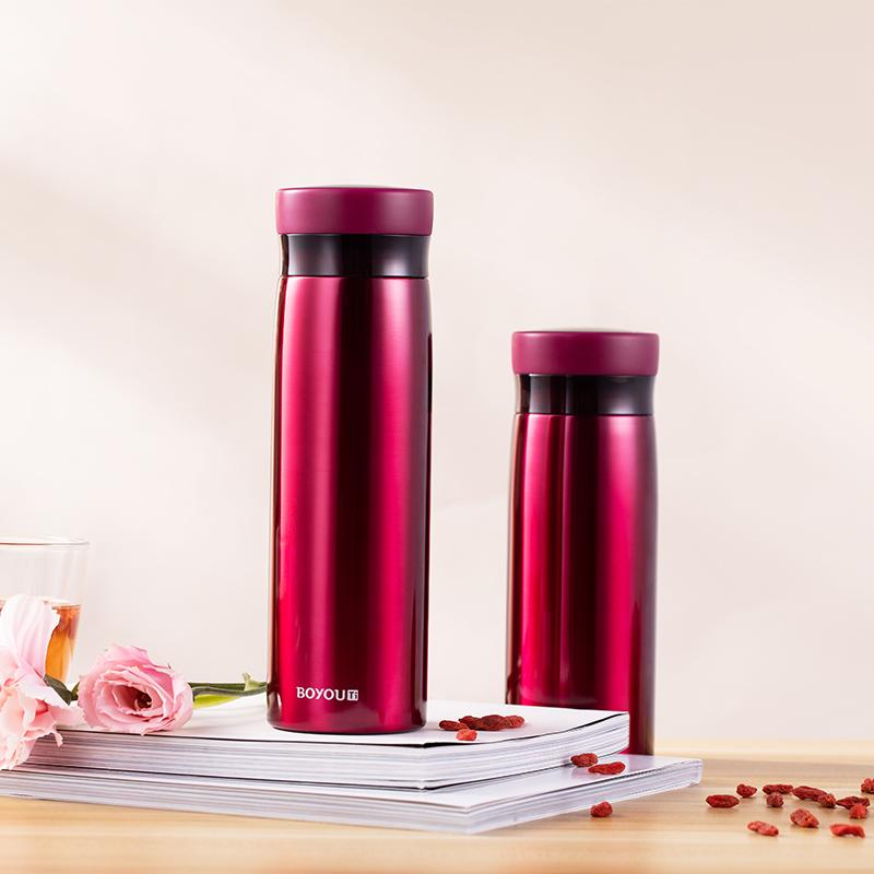 【博友制钛】博友制钛保温杯纯钛高档养生钛杯男女情侣水杯便携钛鲜杯 420ML基本款