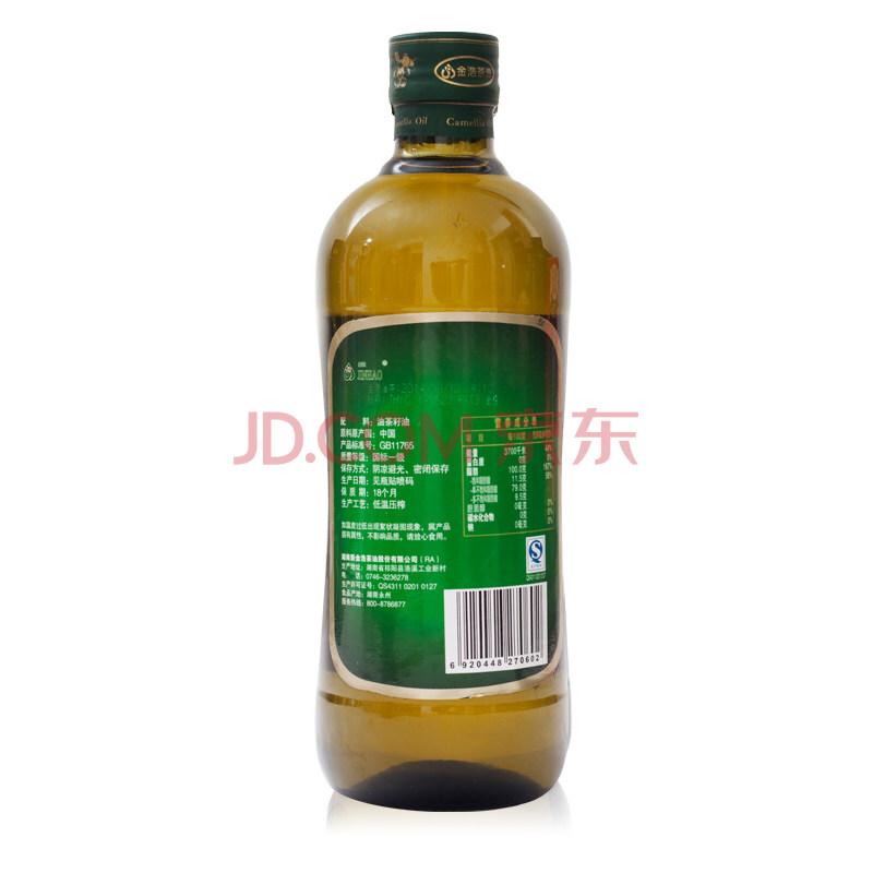 金浩 油茶籽油750ml 低温压榨一级 礼盒装,金浩(JINHAO)