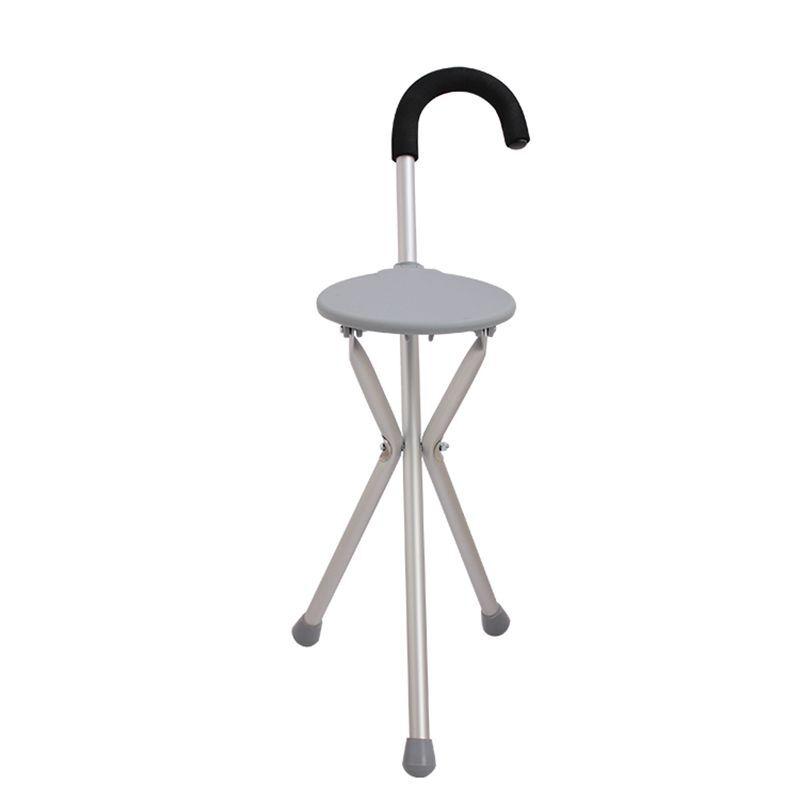 AUFU 佛山东方三角铝合金拐杖凳坐凳拐老年人拐杖凳FS943L 带凳拐杖