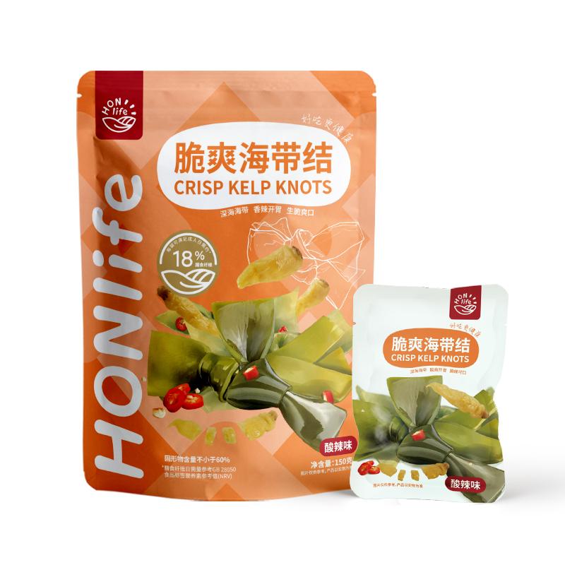 好麥多/Honlife脆爽海帶結酸辣味 3袋裝150g
