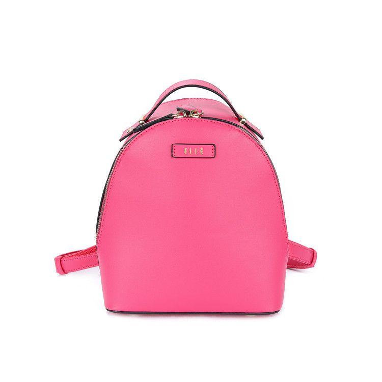 ELLE 简约时尚双肩背包90012 粉色