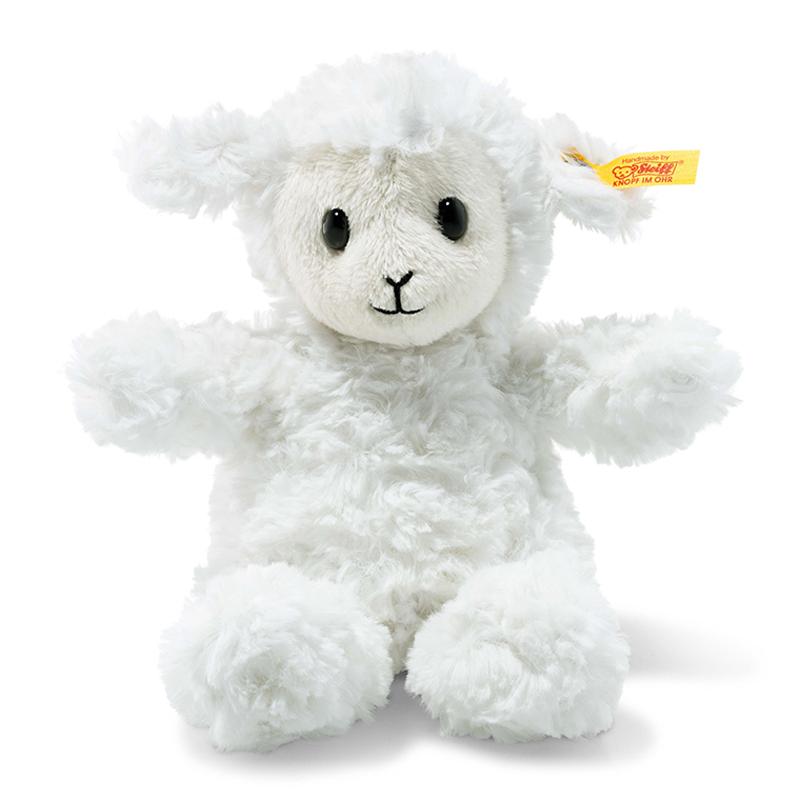 德国Steiff毛绒玩具毛绒羔羊白色 18cm 4001505073403