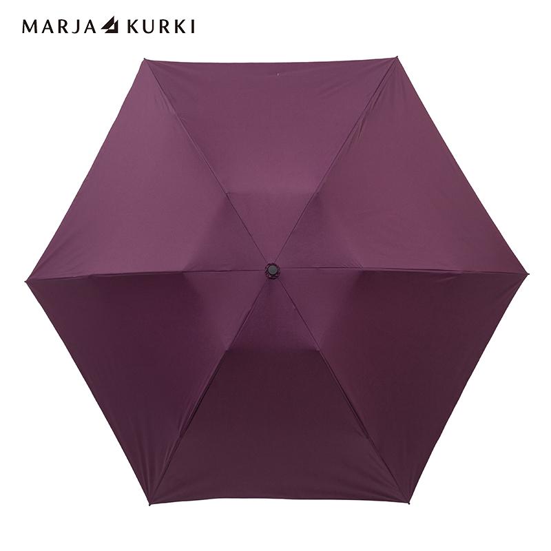 玛丽亚.古琦(MARJA KURKI)女士纯色超轻三折叠太阳伞晴雨伞知性纯色9FF236118豆沙色