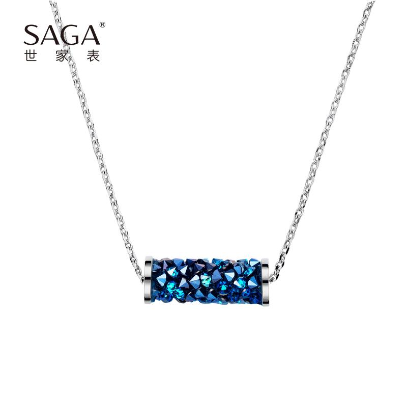 SAGA世家 施华洛世奇元素优雅个性女士百搭锁骨项链送女友礼物