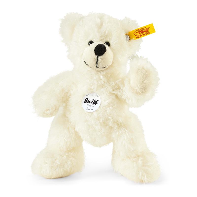 德国Steiff毛绒玩具Lotte泰迪熊白色 18cm 4001505111365