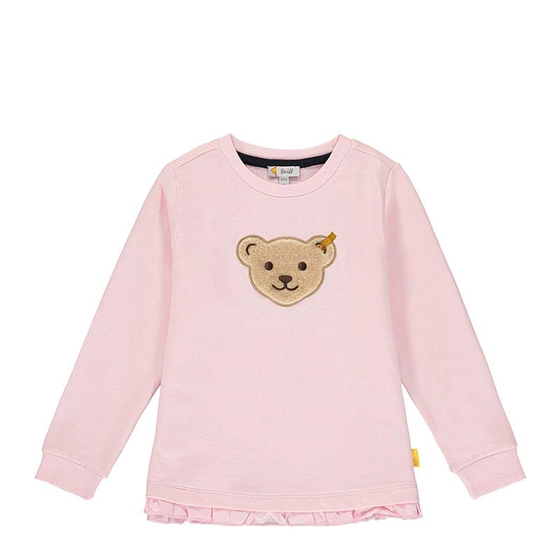 Steiff女婴针织套头衫 德国进口 女婴长袖荷叶边小熊T恤 L002011333