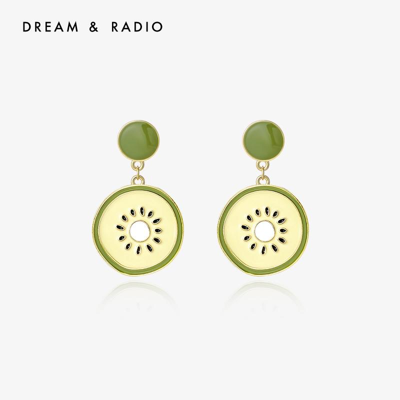 Dream&Radio 925银针奇异果可爱耳饰简约小巧长款气质耳环女