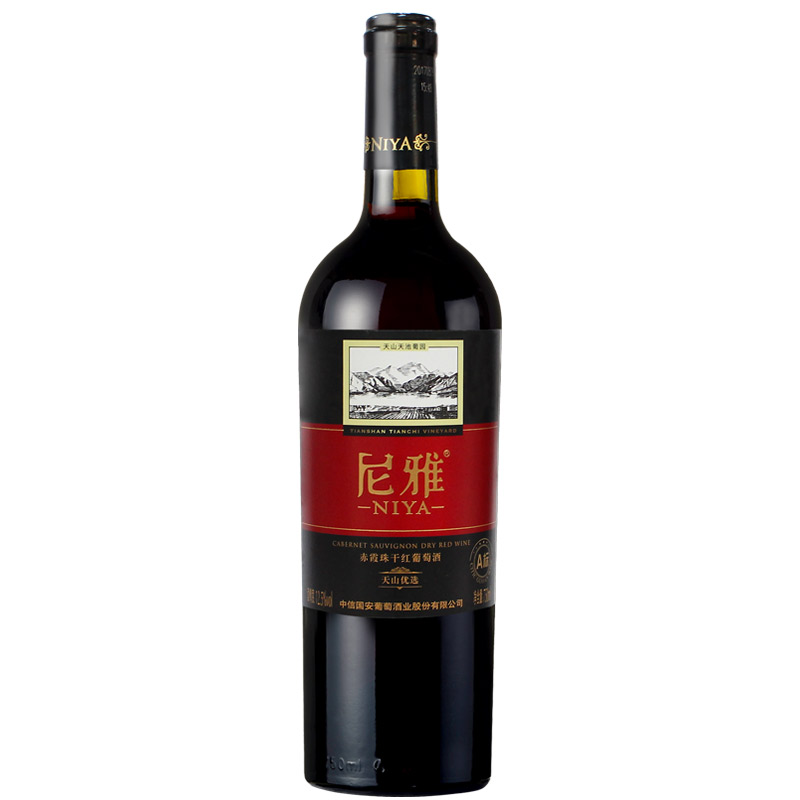 尼雅天山优选A标赤霞珠干红葡萄酒 750ml 单支