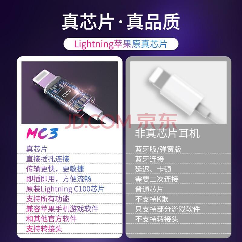 牧士苹果耳机有线lightning扁头接口线控适用原装iPhone12/11/mini/12promax/7/8/8p/X/Xs/XR/iPad,牧士(MUSICSOOTH)