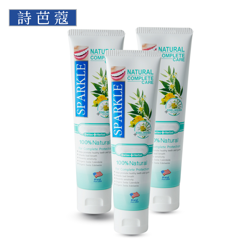 SPARKLE 泰国原装进口NATURAL COMPLETE CARE TOOTHPASTE 101G (天然有机)*3